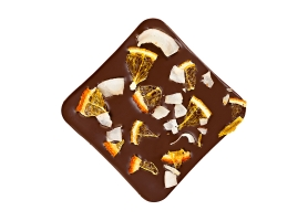 Dark chocolate  with passion fruit & coconut