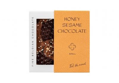 Dark chocolate & milk chocolate & honey and sesame