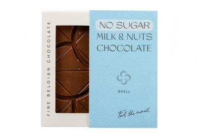 NO SUGAR Milk and nuts chocolate