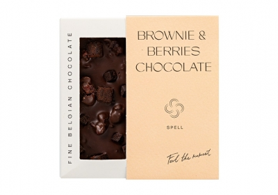 Brownie & berries black chocolate