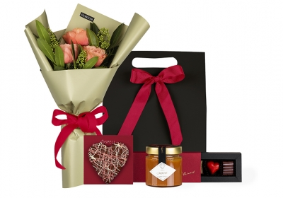 """Love"" Gift with flowers"