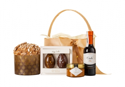 Easter Basket with Wine