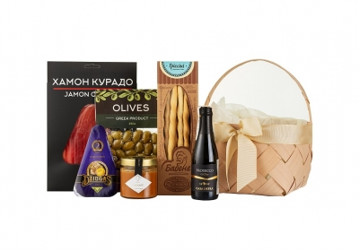 Mini Picnic Basket with salted caramel